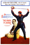 The Mark of Zorro Movie Douglas Fairbanks Noah Beery Poster Print Posters