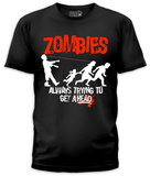 Zombies Trying To Get (slim fit) T-Shirt