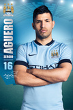 Manchester City Aguero 14/15 Posters