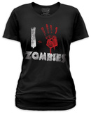 Juniors: I Handprint Zombies T-shirts