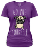 Juniors: Go Pug Yourself T-shirts