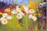 Contemporary Meadow Stretched Canvas Print by Carol Rowan