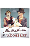 A Dog's Life Movie Charlie Chaplin Edna Purviance Poster Print Prints