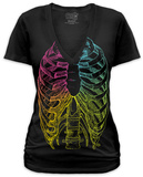 Juniors: Rainbow Ribcage Shirts