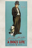 A Dog's Life Movie Charlie Chaplin Tramp Poster Print Plakater