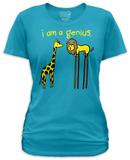 Juniors: I Am A Genius Tshirts