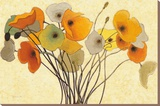 Pumpkin Poppies I Stretched Canvas Print by Shirley Novak