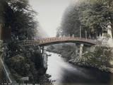 Red Lacquer (Sacred Bridge), Nikko Photographic Print