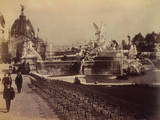 Fountain Coutan and the Central Dome, Paris Expostion, 1889 Photographic Print