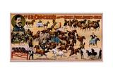 Prof. Ek Crocker's Educated Horses, Ponies, Donkeys and Mules Giclee Print