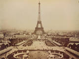 Eiffel Tower and Champ de Mars Seen from Trocadero Palace Photographic Print