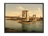Suspension Bridge over the Rhone, Avignon, Provence, France Giclee Print