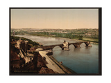 General View and Benezech Bridge, Avignon, Provence, France Giclee Print