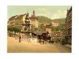 The Market Fountain, Carlsbad, Bohemia, Austro-Hungary Giclee Print