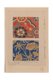 Kara Nishiki (Chinese Brocade) with Red Background Kinran Giclee Print
