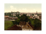 Gotha, with Inselberg, Thuringia, Germany Giclee Print