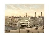 Alster Arcade and Hotel St. Petersburg, Hamburg, Germany Giclee Print