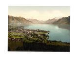 Vevey, and Dent Du Midi, Geneva Lake, Switzerland Giclee Print