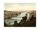 Inverness from Castle, Scotland Giclee Print