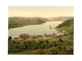 Lake and Hotel, Vyrnwy, Wales Giclee Print