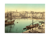 Old Harbour (Vieux-Port), Marseille, France, with Hotel-Dieu Hospital Giclee Print