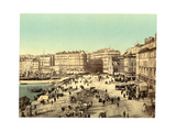 Old Harbour (Vieux-Port), Marseille, France, with Hotel Beauvau at Right Giclee Print