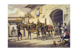 Mules of the Plaza de Toros Giclee Print
