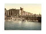 Bridlington, the Harbor, from South Pier, Yorkshire, England Giclee Print