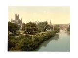 The Abbey, from the Bridge, Bath, England Giclee Print