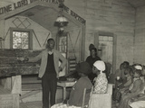 Conducting School in the Church. Gees Bend, Alabama Photographic Print