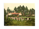 Royal Staff College, Drag Hounds, Camberley, England Giclee Print