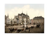 Market Place, Bonn, the Rhine, Germany Giclee Print