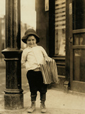 Newsboy, Little Fattie, Less Than 40 Inches High, 6 Years Old Photographic Print