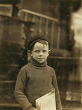 Boy Named Gurley, an Eight Year Old Newsie Photographic Print
