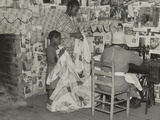 Sewing a Quilt, Gees Bend, Alabama Photographic Print