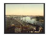 Town and Harbor, Nantes, France Giclee Print