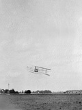 Orville Wright and Ab Lambert Flying; Simms Station, Dayton Photographic Print