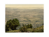 Mt. Hermon and Plain of Tabor, Holy Land Giclee Print
