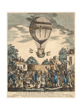 A View of the Balloon of Mr. Sadler's Ascending with Him Reproduction procédé giclée