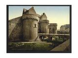 Entrance to Castle, Nantes, France Giclee Print