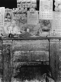 Fireplace in Frank Tengle's Home. Hale County, Alabama Photographic Print