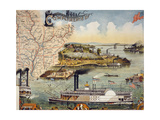 Mississippi River Steamboat Giclee Print