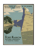 Fort Marion National Monument, St. Augustine, Florida Giclee Print