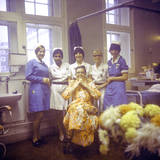 Mrs Middleton and Two Nurses at the Royal Marsden Hospital Photographic Print