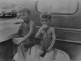 Farm Boys Eating Ice-Cream Cones. Washington, Indiana Photographic Print