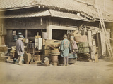 Exterior View of Store on the Corner of the Street with Merc Photographic Print