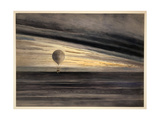 The Balloon Zenith at Sunrise or Sunset, with Five Passenger Giclee Print