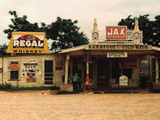 A Cross Roads Store, Bar, Juke Joint, and Gas Station in The Photographic Print