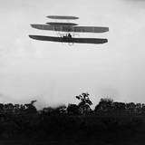 Flight 41: Orville Flying to the Left at a Height of About 60 Feet Photographic Print