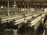General View of 2 Spinning Room in Indian Orchard Cotton Mill Photographic Print